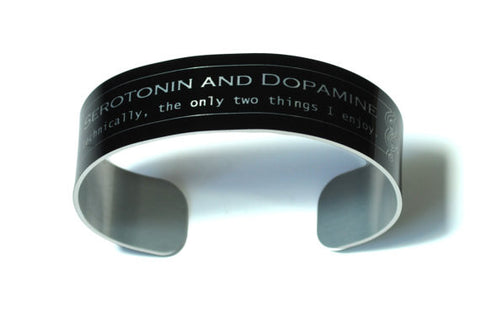 Serotonin and Dopamine Aluminum Geek Bracelet