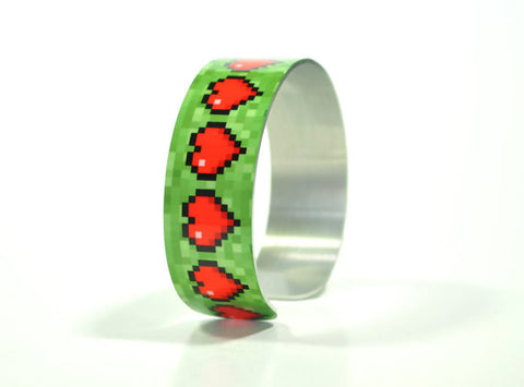 Pixel Heart Gamer Health Geek Bracelet