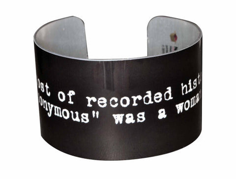 Anonymous Quote Wide Aluminium Geekery Bracelet