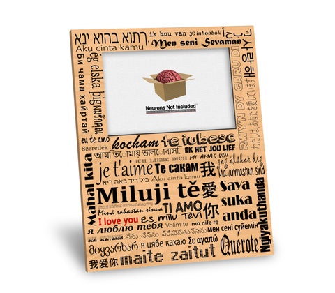 I Love You in Many Languages Picture Frame