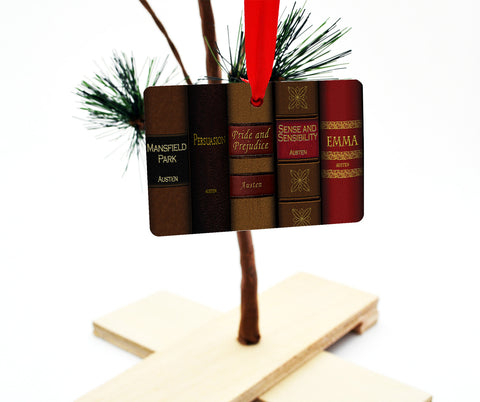 Jane Austen Books Christmas Ornament