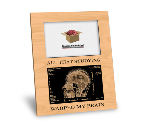 JD Degree Picture Frame - All That Studying Warped My Brain