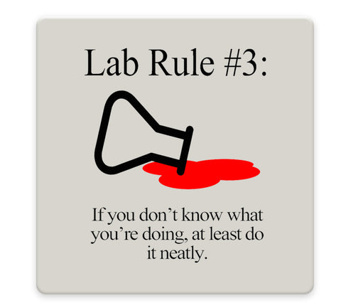 Lab Rules 1-4 Coaster Set - Sandstone Tile 4 Piece Set - Caddy Included