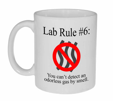 Lab Rule #6 Funny Chemistry Coffee or Tea Mug