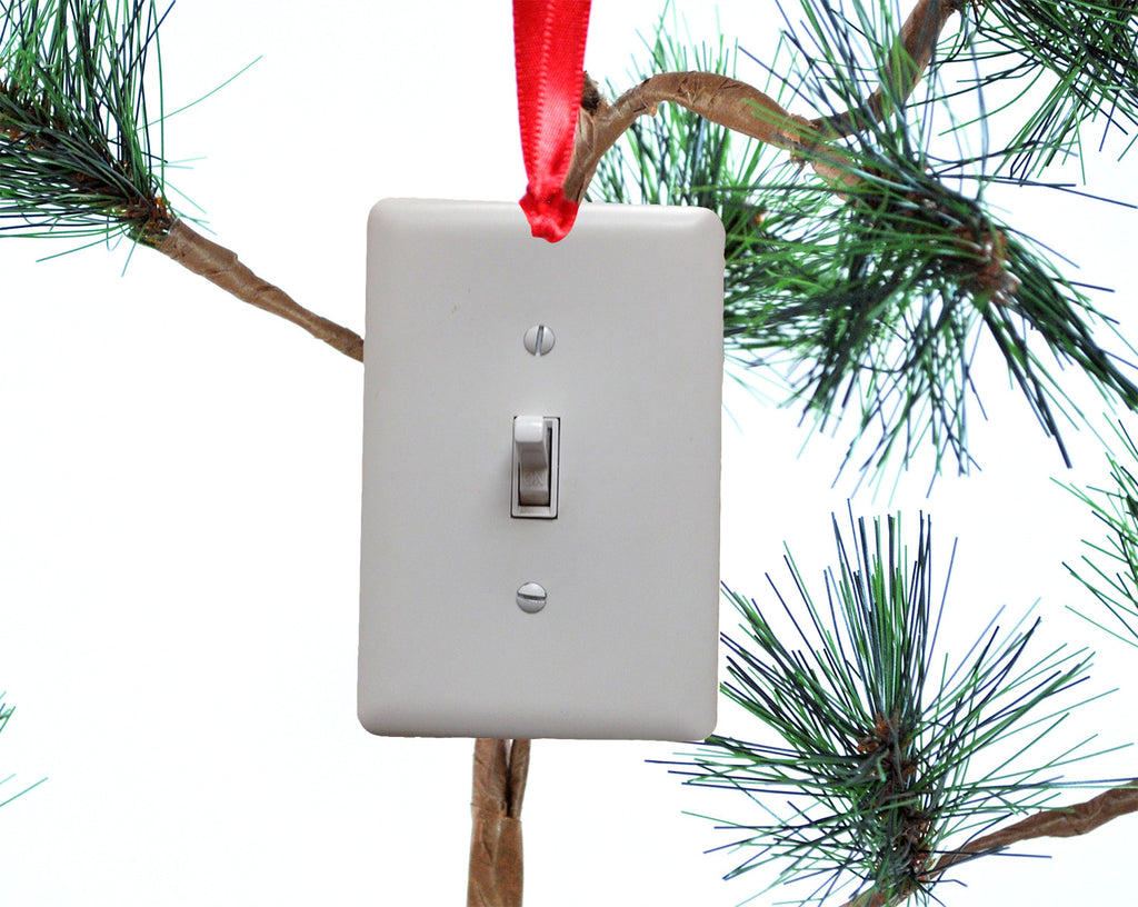 Light Switch Funny Christmas Tree Ornament