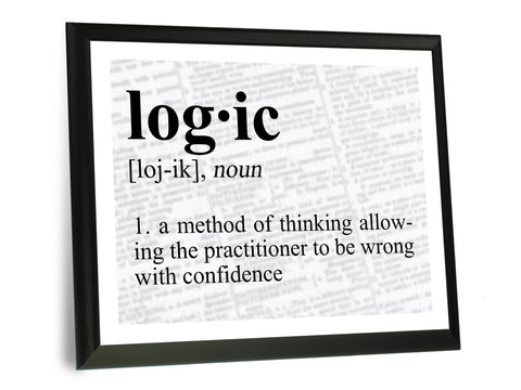 Logic Definition Typography Wall Plaque