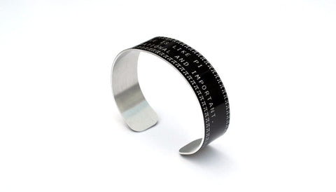 Love is Like Pi Aluminum Geekery Cuff Jewelry