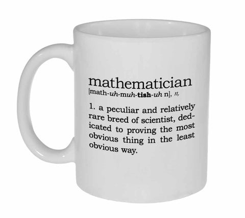 Mathematician Definition Coffee or Tea Mug