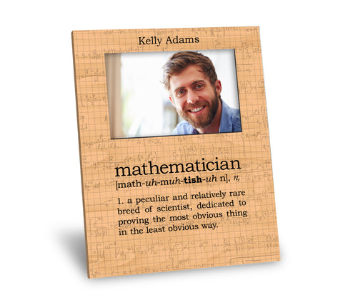 Mathematician Definition Picture Frame