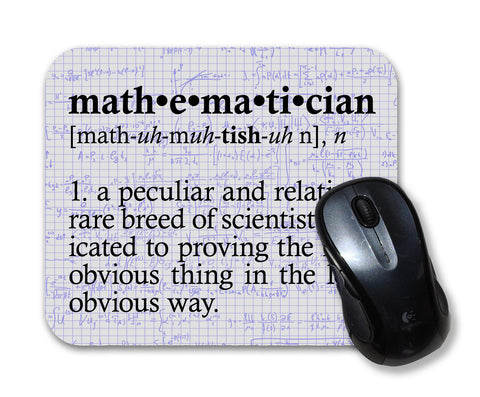 Math Mathematician Definition Mouse Pad