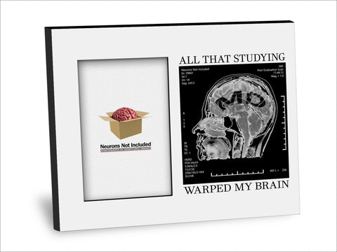 MD Degree Picture Frame - All That Studying Warped My Brain