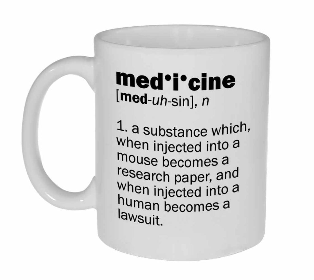 Medicine Definition Coffee or Tea Mug