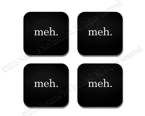 meh Coaster Set - 4 Piece Neoprene Set