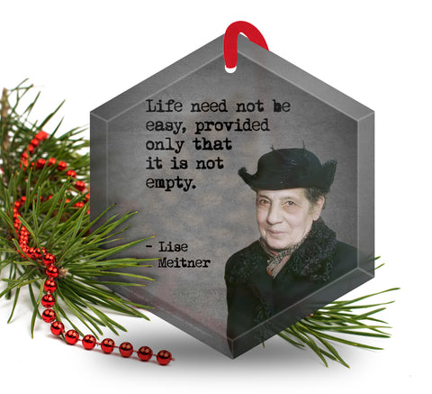 Famous Scientists Lise Meitner Glass Christmas Ornament
