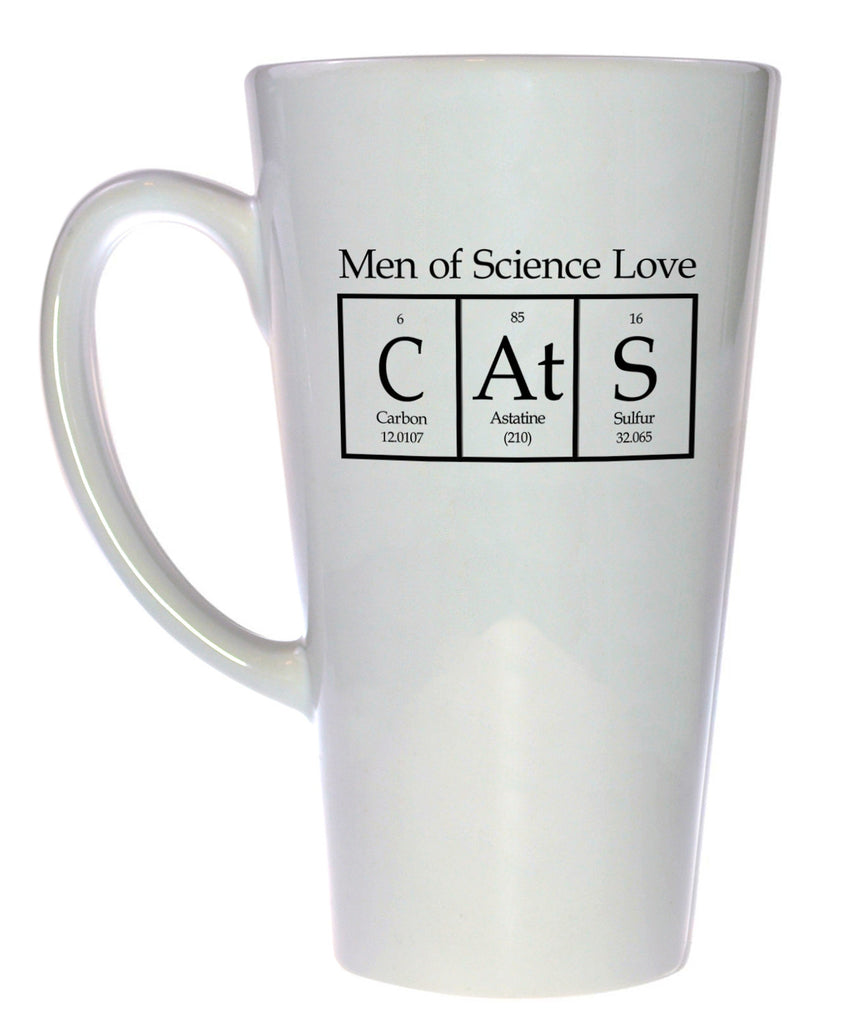 Men of Science Love Cats Coffee or Tea Mug, Latte Size