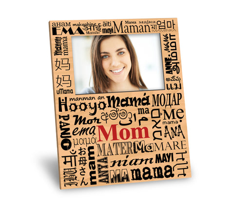 Mom in Many Languages Picture Frame