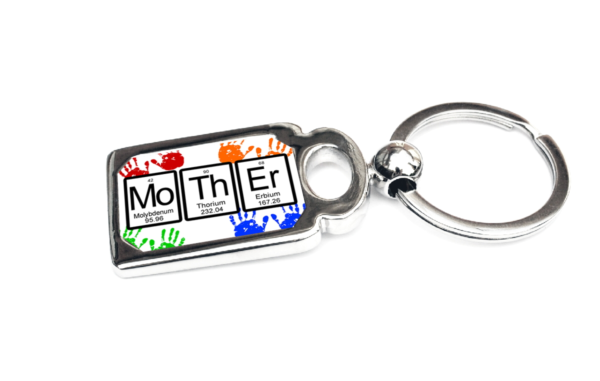 Mother periodic table of elements metal key chain perfect mom gift mother periodic table of elements key chain or ring urtaz Images