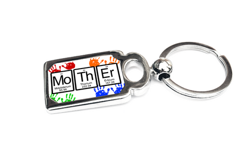 Mother periodic table of elements key chain or ring