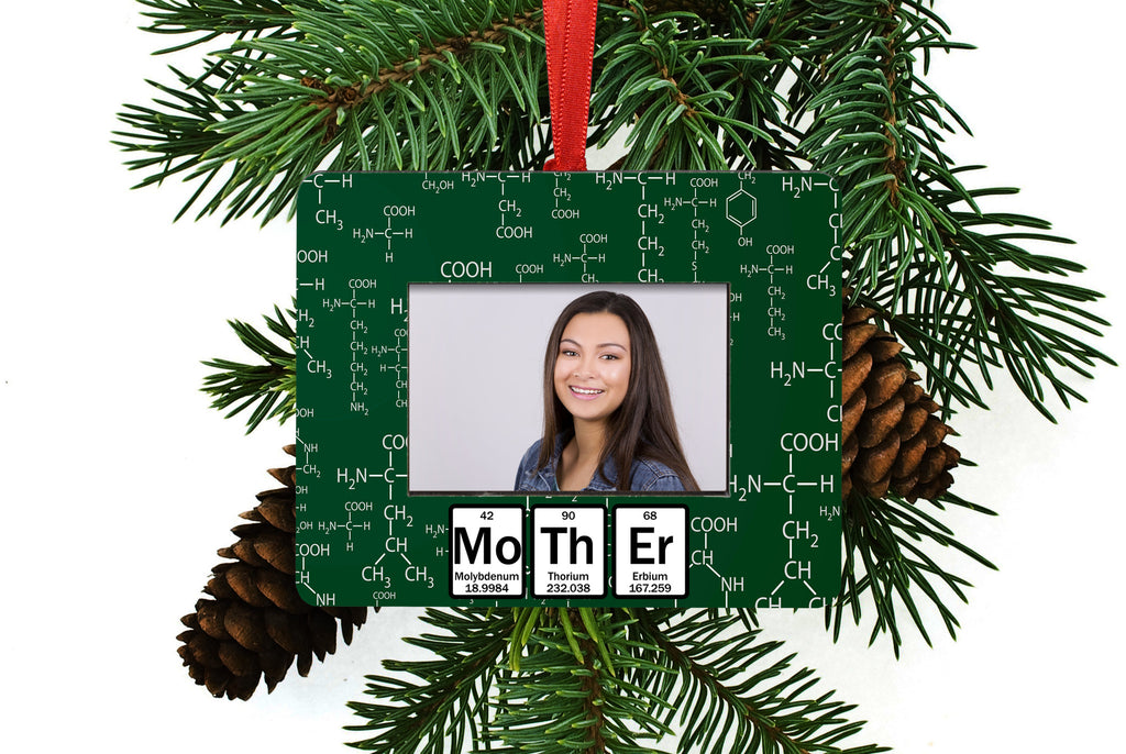 Mother Periodic Table of Element Christmas Tree Ornament / Picture Frame