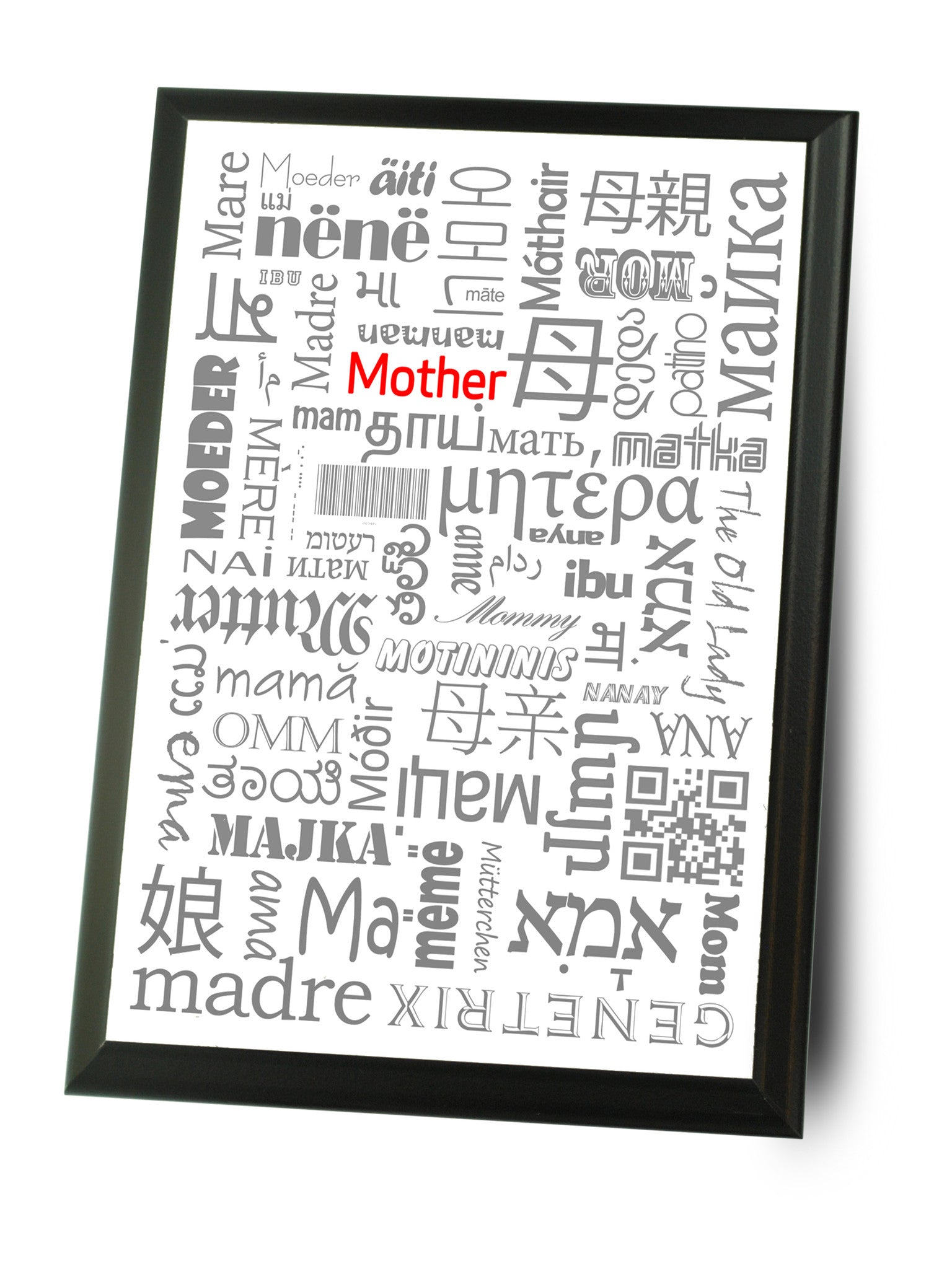 mom in many languages 9x12 wall plaque for mothers day neurons not