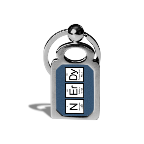 Nerdy Periodic Table of Elements Key Chain or Ring