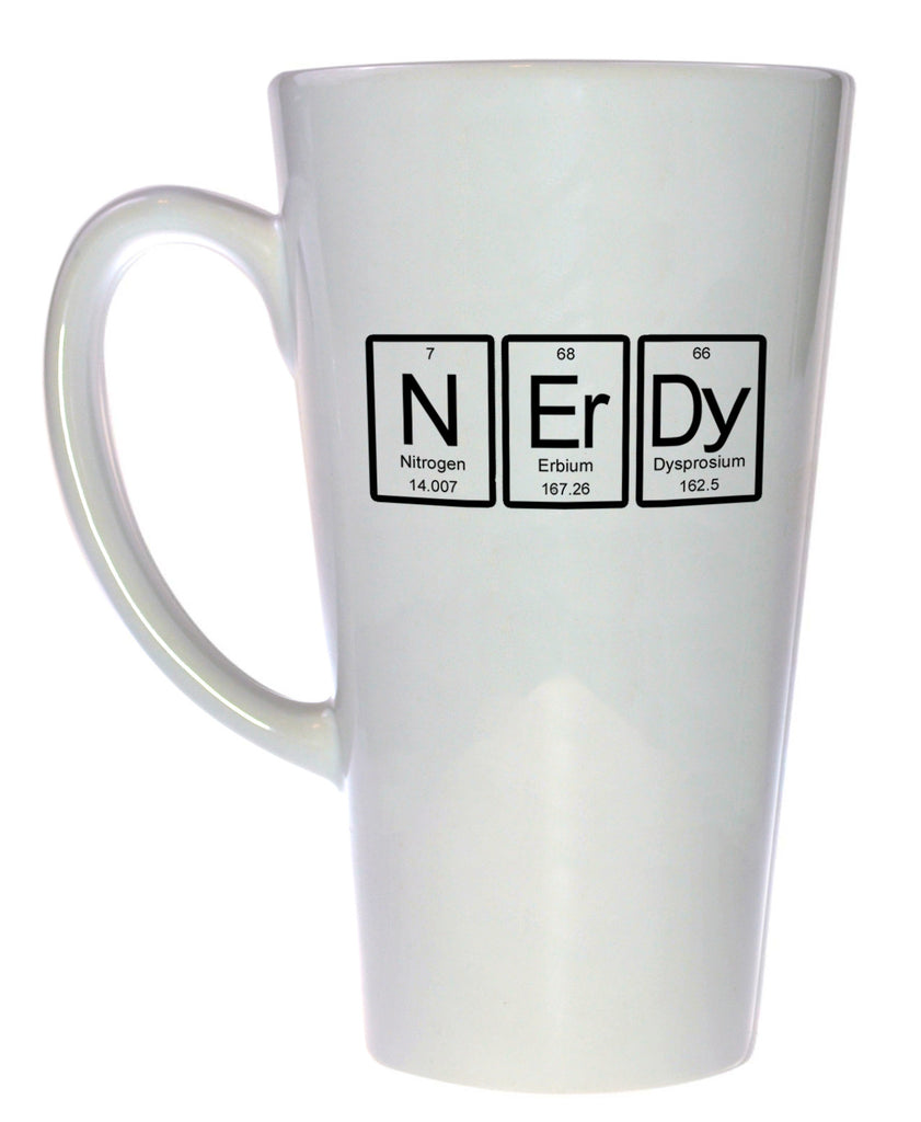 Nerdy Periodic Table of Elements Coffee or Tea Mug, Latte Size