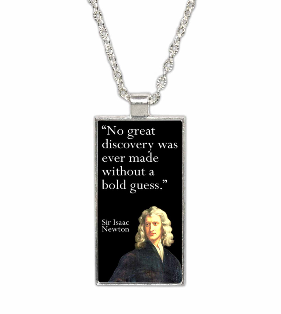 Sir Isaac Newton Famous Scientist Quote  Pendant Necklace