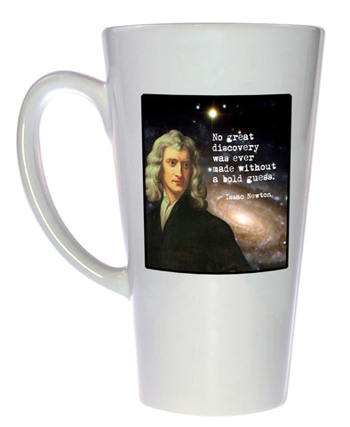 Isaac Newton - Famous Scientists Series Coffee or Tea Mug, Latte Size