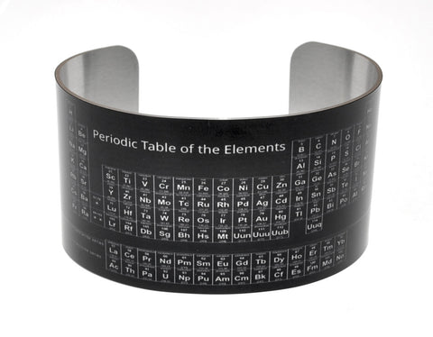 Black Periodic Table of Elements Cuff