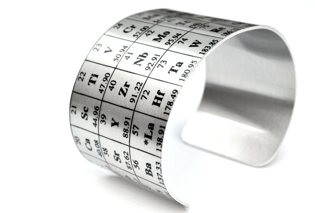 Periodic Table of Elements Aluminum Cuff
