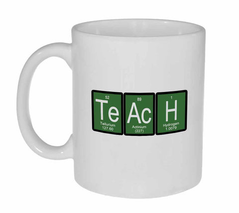 Teach Periodic Table of Elements Coffee or Tea Mug - Green