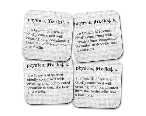 Physics Definition Neoprene Coaster Set