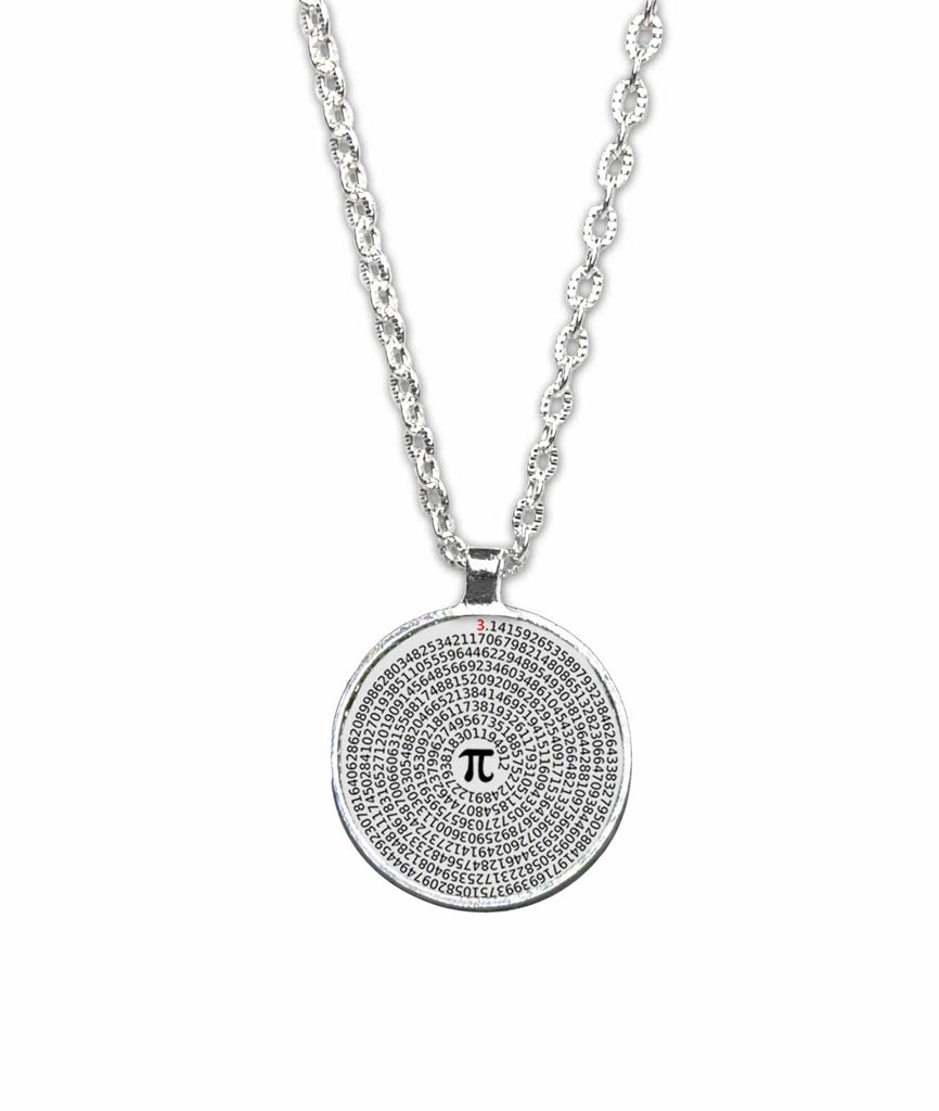 Spiral Value of Pi Pendant Necklace - Funny Geeky Jewelry