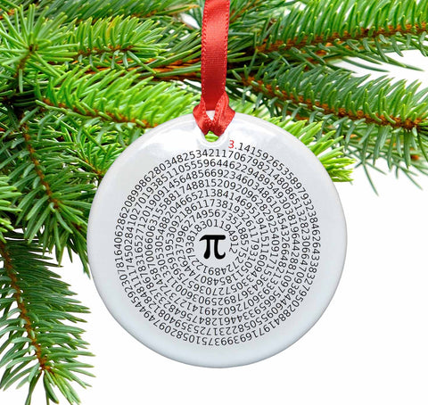 Value of Pi Ceramic Christmas Ornament