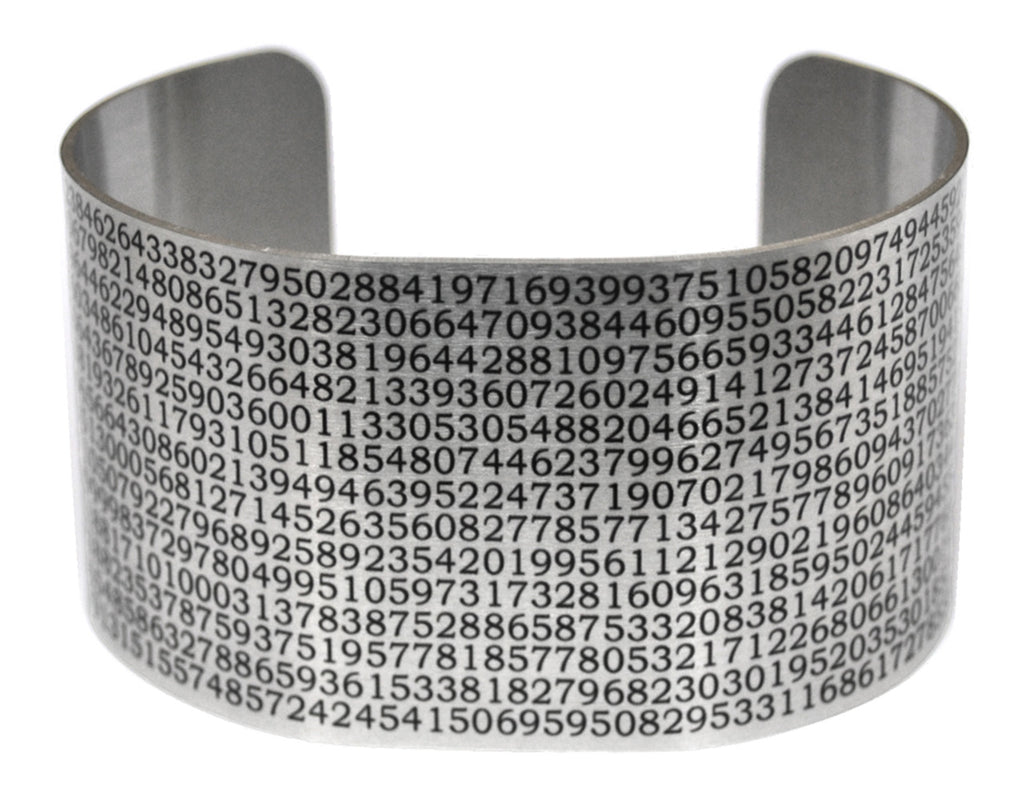 Value of Pi Aluminum Cuff