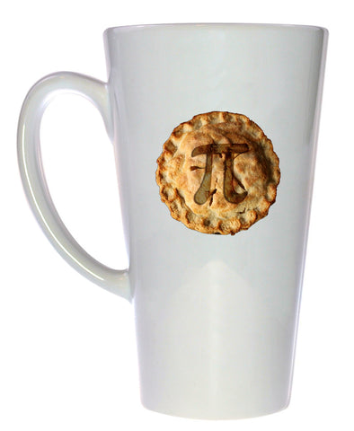 Pi on a Pie Mathematical Coffee or Tea Mug, Latte Size