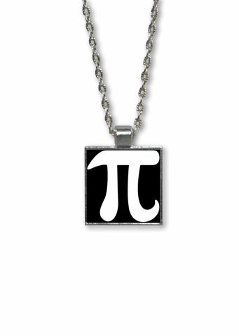 Pi Symbol  Pendant Necklace - Geeky Math Jewelry