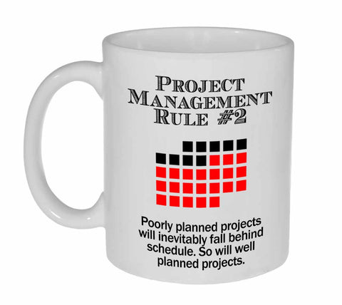 Project Management Rule #2 Coffee or Tea Mug