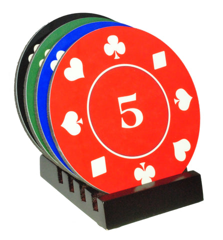 Poker Chip Coasters with Display Holder