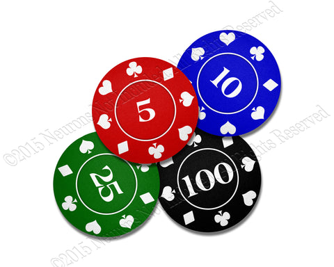 Poker Chips Neoprene Coaster Set