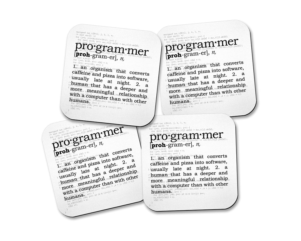 Programmer Definition Neoprene Coaster Set