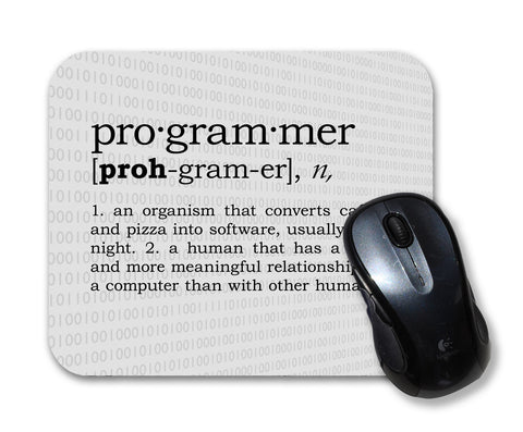 Programmer definition - mouse pad for geeks, nerds and scientists