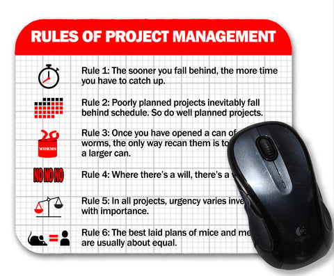 Project Management Funny Science Mouse Pad For Project Managers