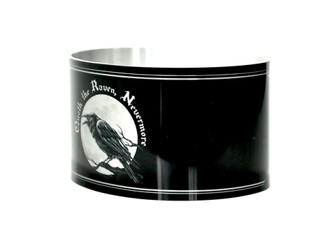 Edgar Allen Poe The Raven Quote Aluminum Cuff