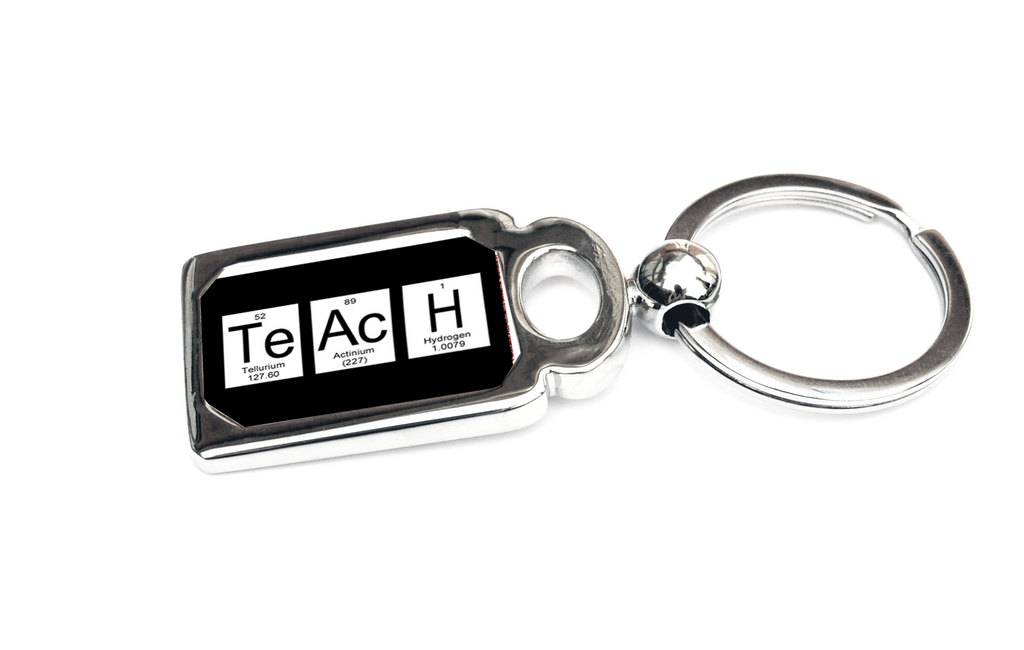 Teach Periodic Table of Elements Metal Key Chain
