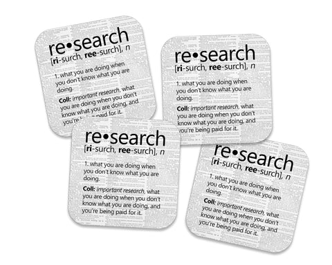 Research Definition Coasters Neoprene 4 Piece Set