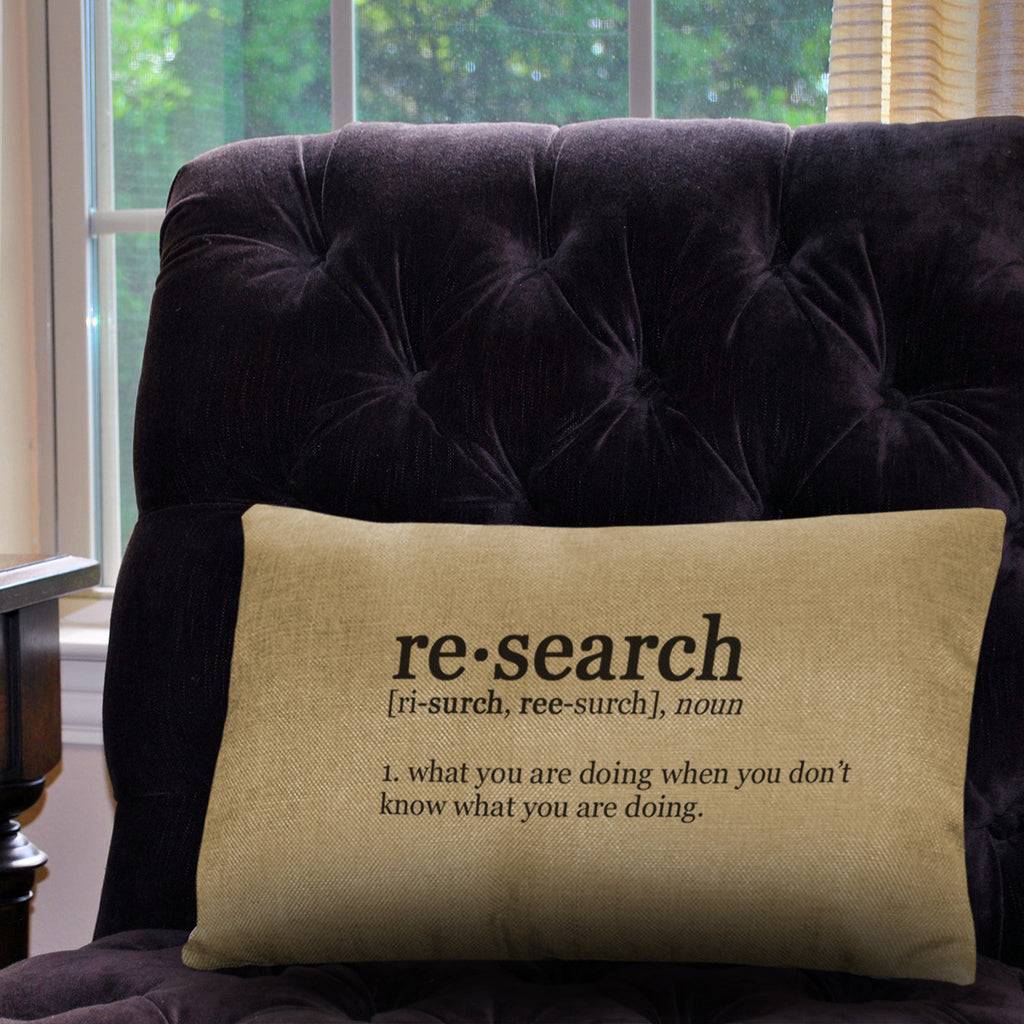 "Research Definition Pillow Cover - Natural Color - Zipper Enclosure - 12""x18"""