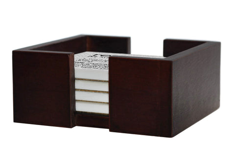 Research Definition Coaster Set - Sandstone Tile 4 Piece Set - Caddy Included