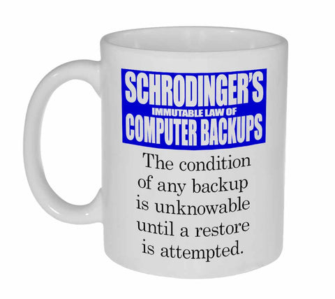 Schrodingers Backup Coffee or Tea Mug