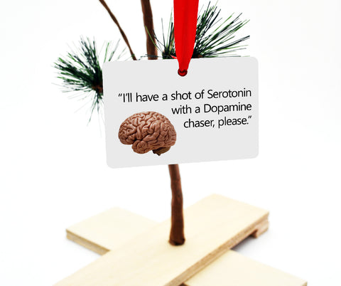 Serotonin Dopamine Christmas Tree Ornament